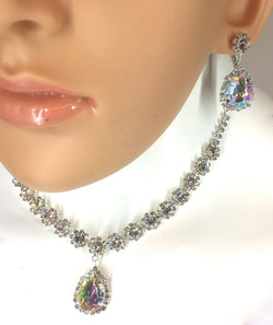 AB/Crystal Rhinestone Necklace Set. Style #N102