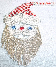 "Christmas Santa with Moving Beard 3""h in Silver"