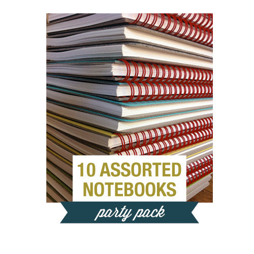 Party Pack ~ 10 Assorted Small Notebook