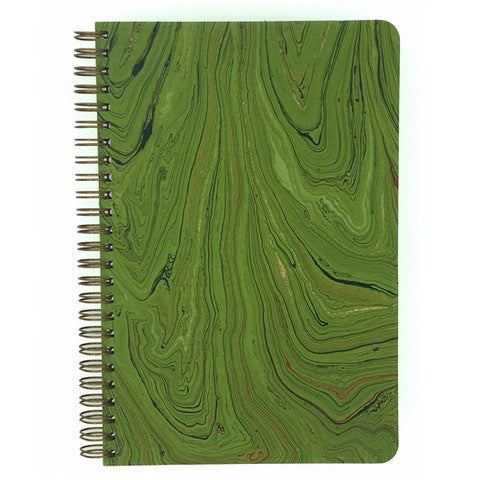 This Marbled Green cover has gold, black, and red accents.