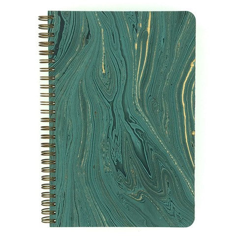This Marbled Teal cover has gold and black accents.