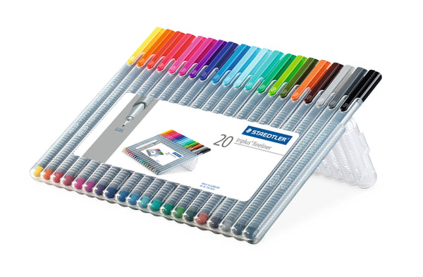 Staedtler Triplus Fineliner .3 mm Colored Pens- set of 20
