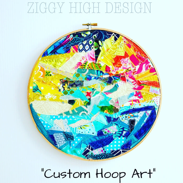 Quirky Hoop Art - Wall Decor - 10 Inch Ebroidery Hoop - Custom  HOOP ART ZiggyHighDesign - ZiggyHighDesign