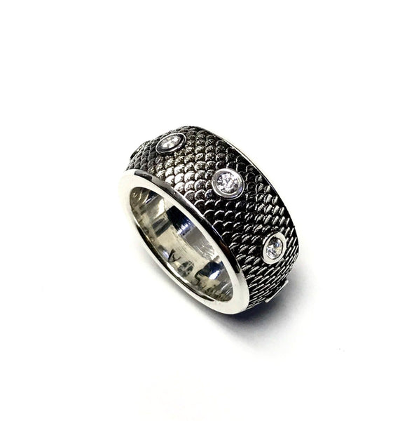 Men's Designer Eternity Ring With Natural Diamond By Sacred Angels