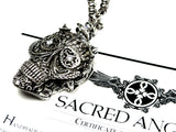 Day Of The Dead Skull Diamond Pendant By Sacred Angels