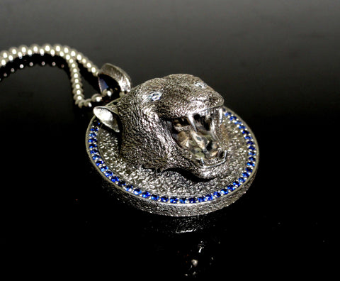 in necklace pearl blue p panther from bali cultured pendant power