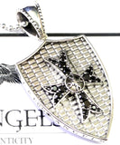 14 K White Gold Cross Pendant With Diamonds By Sacred Angels