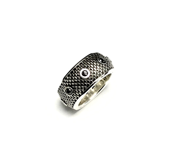 Men's Eternity Wedding Band With Black  Diamond