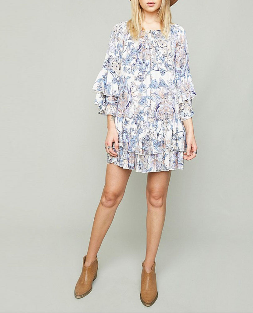 Women's Ruffle Floral Print Dress