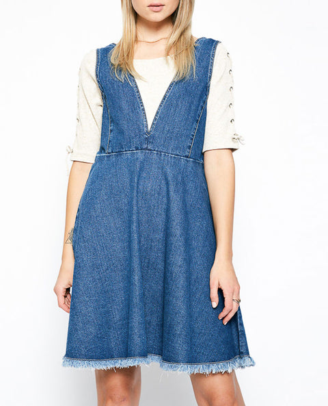Women's Denim Overall Dress