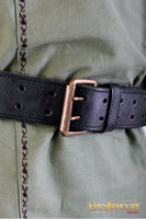 Leather Ring Belt (Black/Brown)