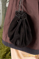 Round Leather Bag (Black/Brown)