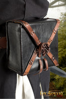 Square Leather Bag (Black/Brown)