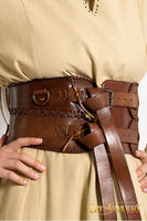 Leather Broadbelt (Brown/Black)