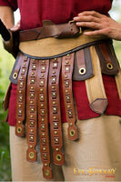Brown Leather Roman Belt