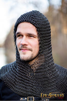 Alaric Chainmail Coif Dark