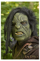 Green Orc Brute Mask, with Hair