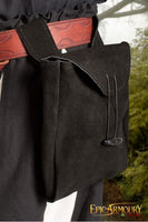 Large Thin Leather Bag (Black/Brown)
