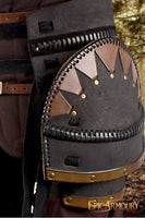 Orc Brute Belt with Tassets (Black/Brown)