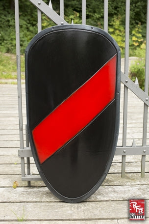 Large RFB Shield, Black and Red