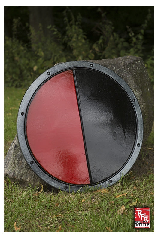 RFB Round Shield, Black %26 Red