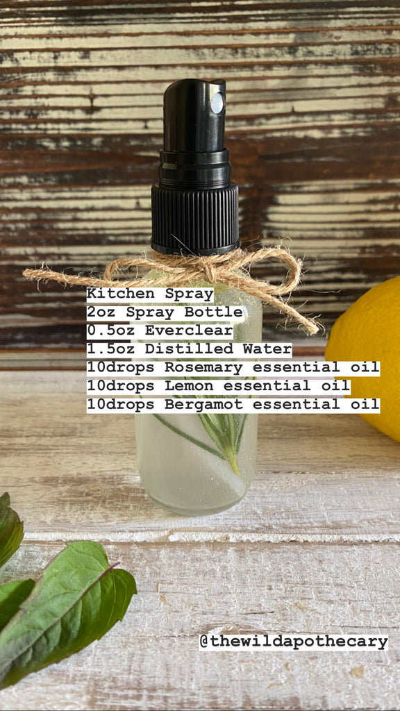 Essential Oil Kitchen Spray Recipe