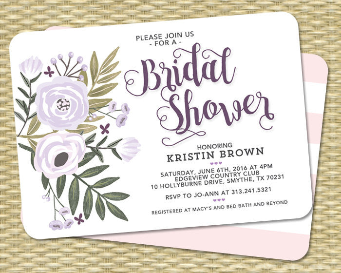 Charming Baby Shower Invitation Gender Neutral Baby Shower Invite Floral Baby Shower  Flowers Lavender Sip And See ANY EVENT