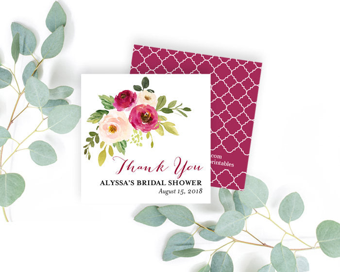 Floral 50th Birthday Invitation, Blush and Berry Floral Wreath Adult Birthday Invitation, Floral Birthday Invitations, Spring  - Alyssa