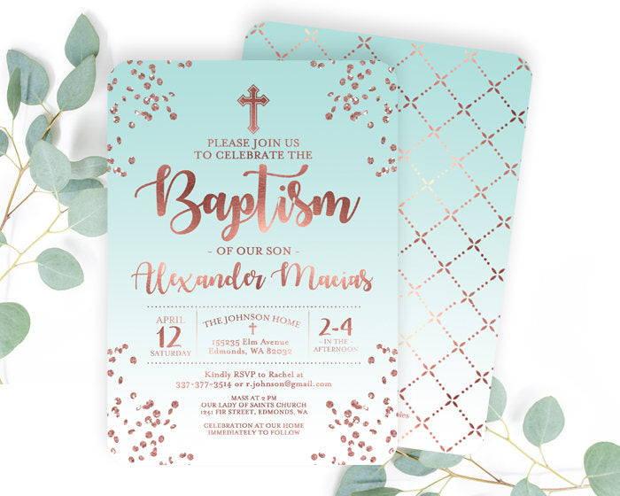Baptism Invitations For Boy Kalde Bwong Co