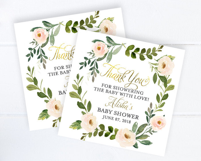 Watercolor Floral Baptism Invitation, Girls Baptism Invite, Baby Girl Christening Invitation, Girl First Communion Invite ANY EVENT