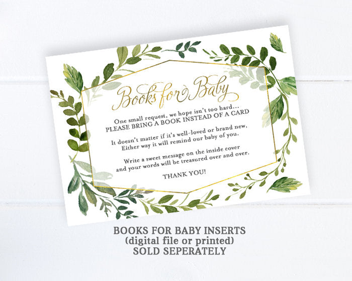 Gender Neutral Baby Shower Invitations Greenery And Gold Baby Shower Invitation Greenery Baby Shower Invite Greenery Baby Shower Boho