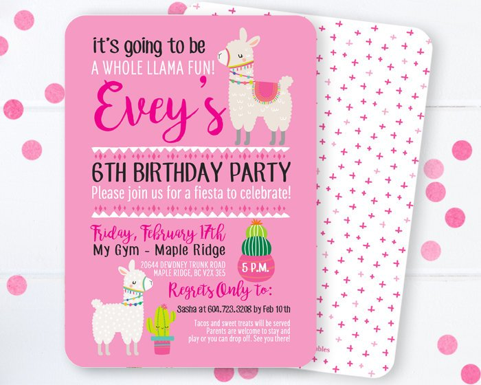 Llama Invitation, Llama Birthday Invitation, Llama and Cactus Invitation, Llama Party, Whole Llama Fun, Llama Llama Invitation, Llama Fun