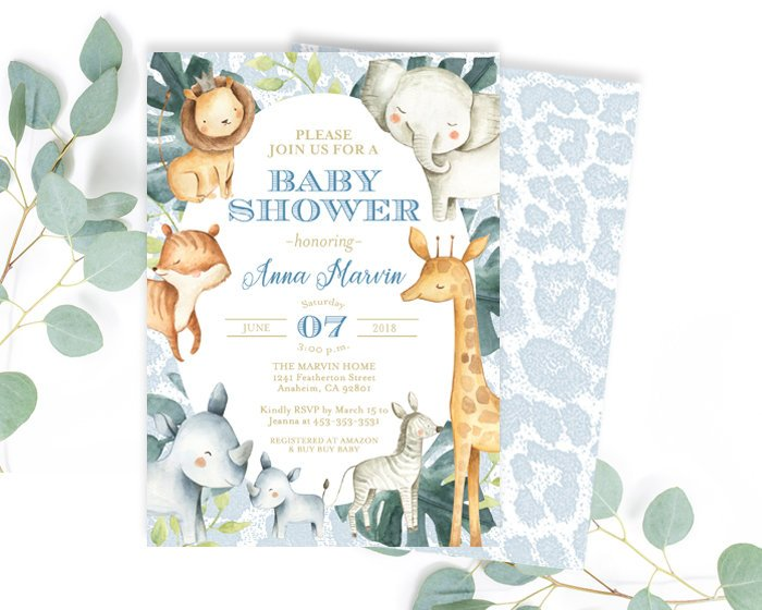 image relating to Printable Baby Shower Invitations Girl known as Red Woman Safari Boy or girl Shower Invitation, Jungle Pets Female Youngster Shower Invite, Youngster Lady Shower, Child Sprinkle