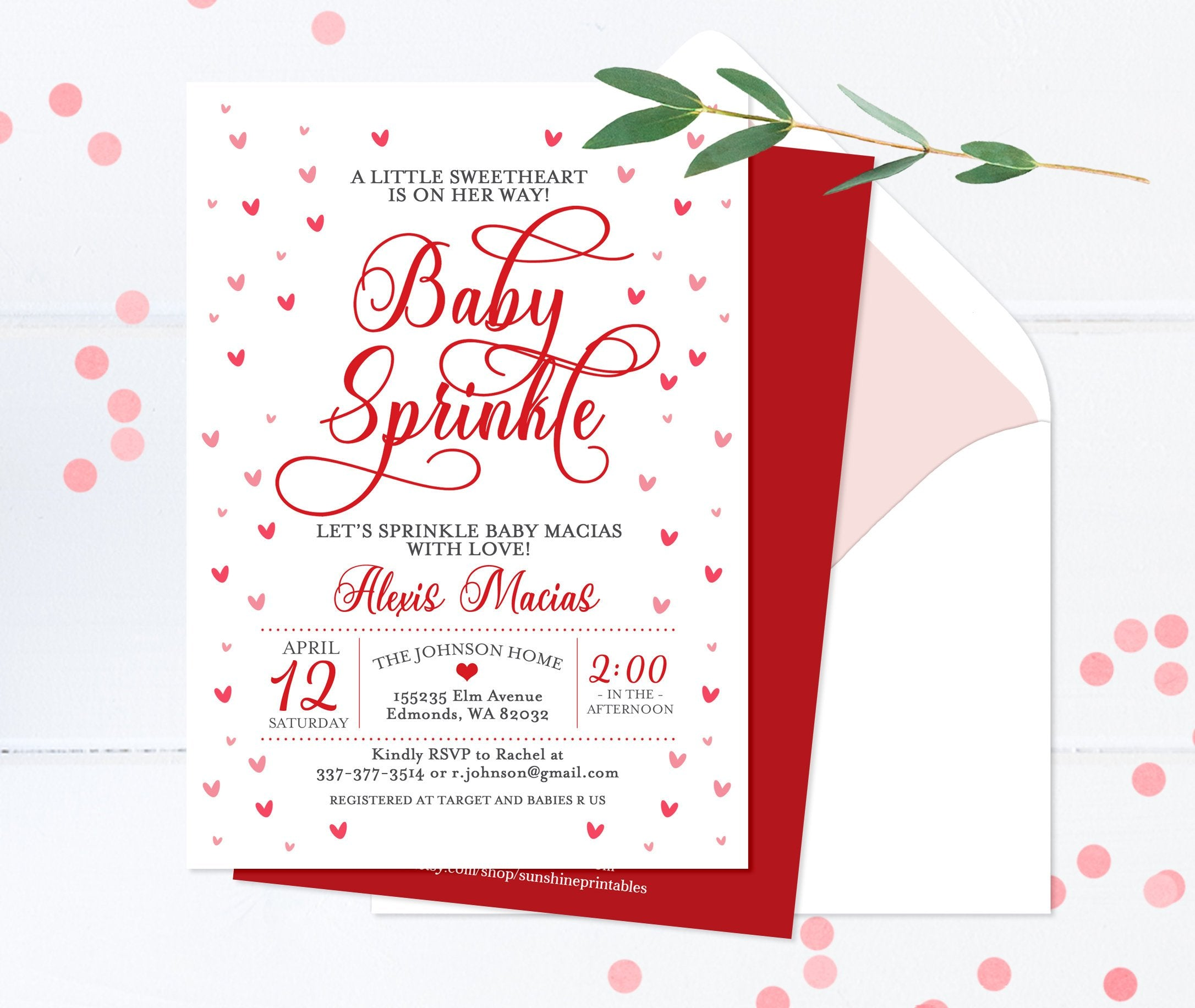 photograph about Printable Red Hearts referred to as Youngster Sprinkle Invitation Valentines Working day Boy or girl Sprinkle Invite Purple Hearts Child Shower Invitation Sweetheart