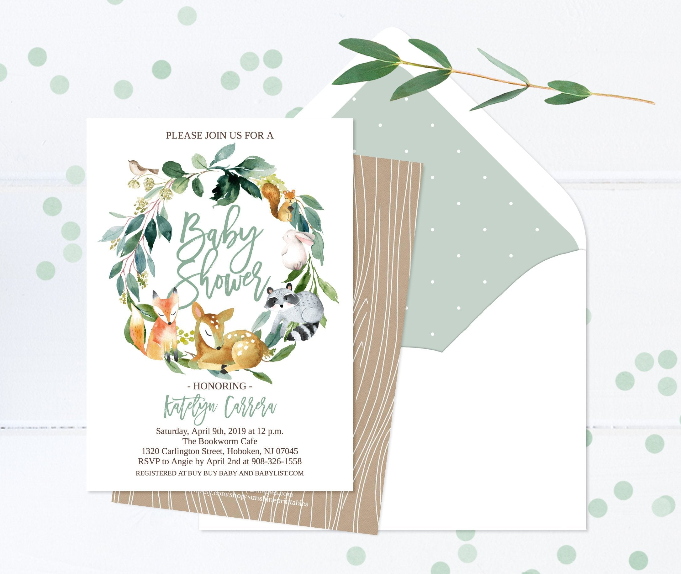 picture relating to Printable Woodland Animals titled Woodland Animal Boy or girl Shower Invitation, BOY, Woodland Pets, Woodland Concept, Deer, Fox, Rac