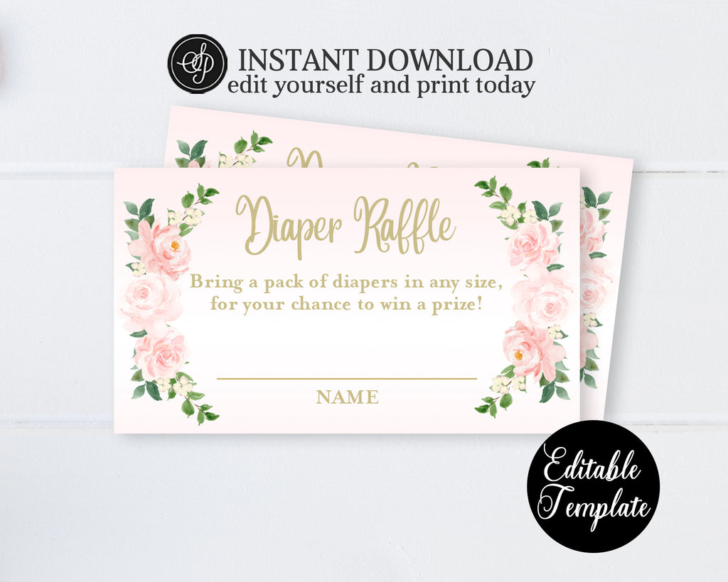 Printable Pumpkin Baby Sprinkle Invitation for Girl, Floral Pumpkin Girl Baby Sprinkle Invite, Pink & Gold, EDITABLE TEMPLATE, SP0056B