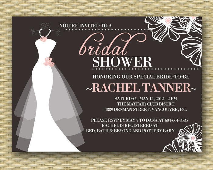 graphic about Printable Wedding Shower Invitations known as Printable Marriage Gown Bridal Shower Invitation, Costume upon Hanger, Marriage Gown, Wedding day Shower Invitation - Printable