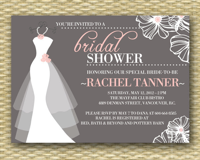 image relating to Bridal Shower Invitations Printable named Printable Wedding day Gown Bridal Shower Invitation, Gown upon Hanger, Marriage Gown, Marriage ceremony Shower Invitation - Printable