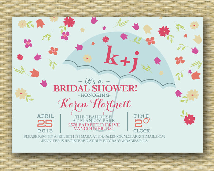 Flower Shower Bridal Shower Invitation - Bridal Shower Invitation - Spring Flower Shower - Birthday Invitation - ANY EVENT