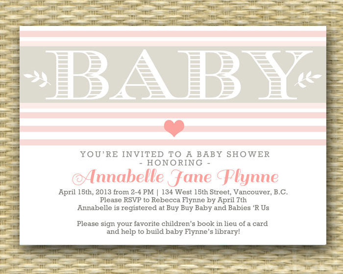 Printable Baby Shower Invitation - Valentine Baby Shower, Baby Heart - Any Color - Baby Girl, Baby Boy, Gender Neutral