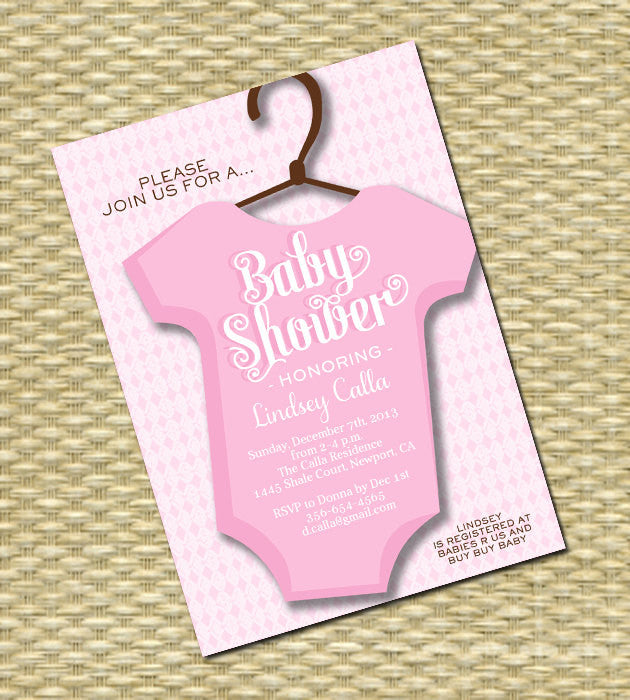 Printable Baby Shower Invitation - Baby Boy, Baby Girl - ANY COLOR SCHEME