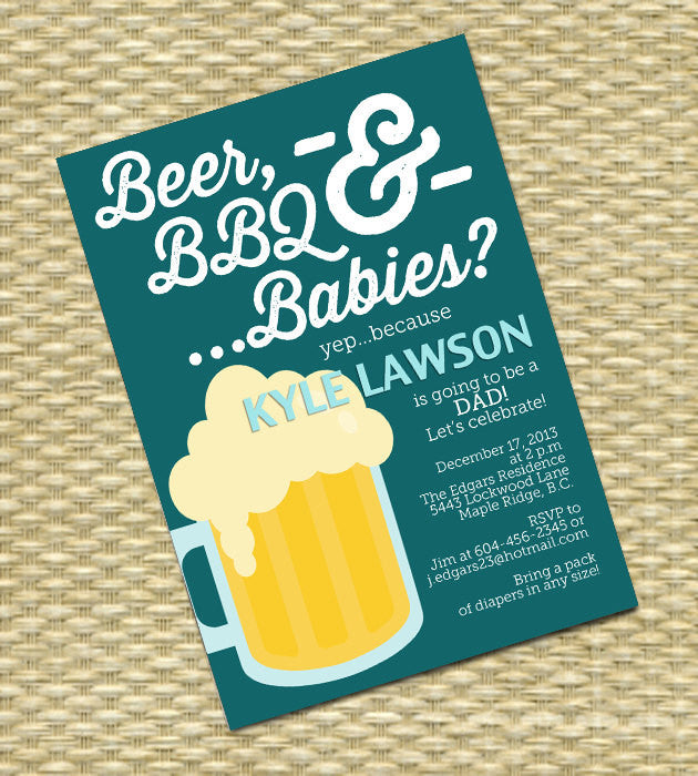 Beer And Diaper Party Invitation Man Shower Beer Bbq And Babies Dudes And Diapers Baby Shower Invitation Any Color Scheme Any Event