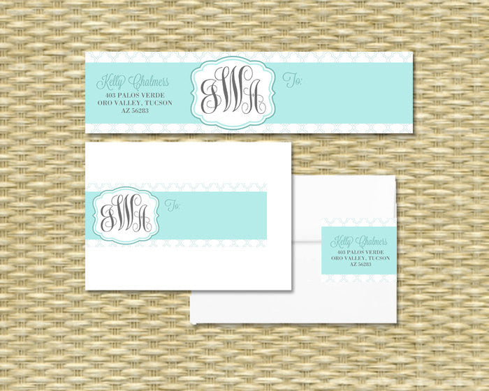 b7cd80525a0a Monogram Shower Invitations Monograms and Mimosas Bridal Brunch Invitation  Monogram Bridal Shower