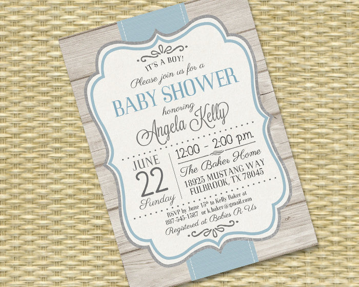 photograph relating to Printable Baby Shower Invitations Boy named Printable Kid Boy Shower Invitation Rustic Boy or girl Shower Sip and Look at Little one Sprinkle Diaper Wipes Blue Gray, Any Shades, Any Function
