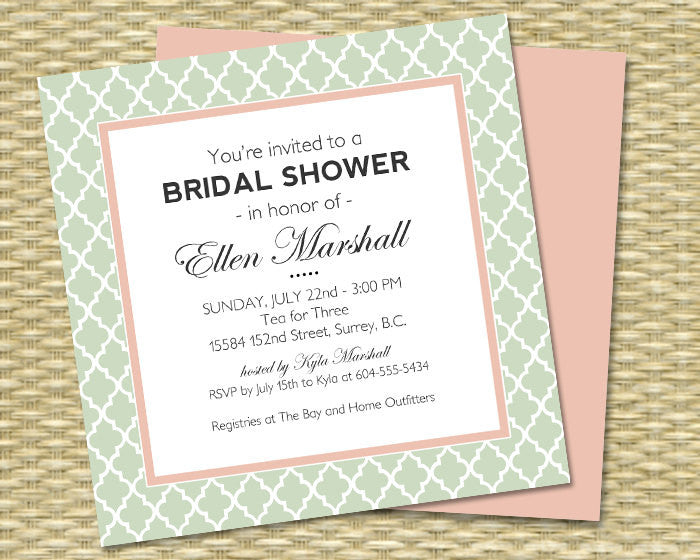 Bridal Shower Invitation - Baby Shower, Birthday - Simple Modern 5x5 - DIY Printable - ANY EVENT - Any Color Scheme