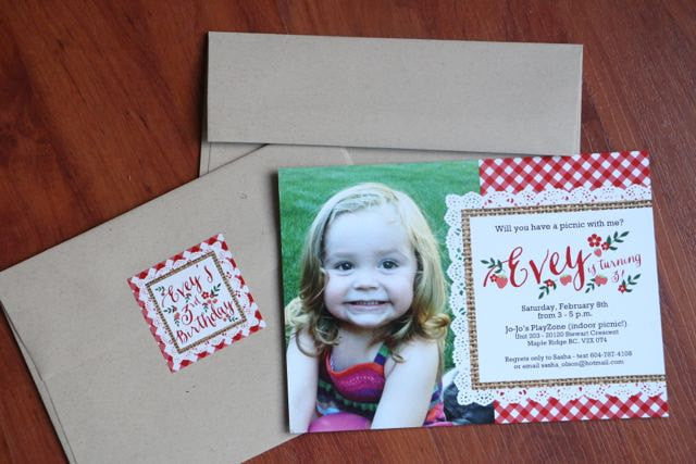 1st Birthday Invitation Birthday Picnic Party Summer Picnic First Birthday Strawberry Picnic Farm Market Party Photo Card, Any Colors