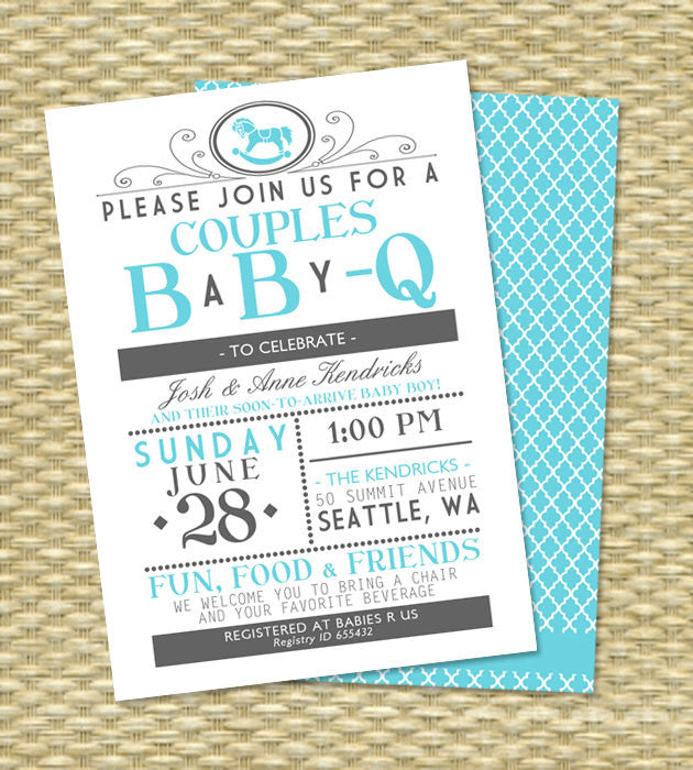 Printable BaByQ Invitation Girl Baby Shower Invitation Couples Baby Shower Invitation Baby Girl Shower Typography Style Any Color ANY EVENT