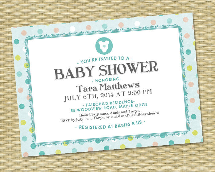 Baby Shower Invitation Baby Boy Shower Gender Neutral Shower Preppy Baby Shower Blue Aqua Tan White Sip and See Baby Sprinkle ANY EVENT