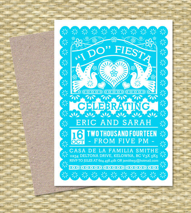 FIESTA Couples Shower Invitation Papel Picado Mexican Flag Bridal Fiesta I Do Cinco De Mayo Engagement Party Any Event