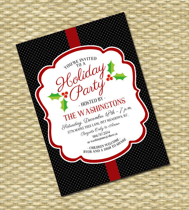 Christmas Party Invitation - Holiday Party - Any Color Scheme - ANY EVENT